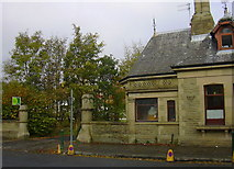 SD8122 : Gateposts, lane to Green Bank from Bacup Road by Robert Wade