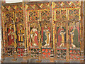 TG3818 : St Catherine's church - rood screen panels by Evelyn Simak