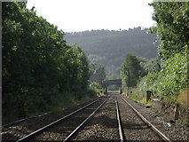 NY6565 : Railway tracks north of Greenhead by Mike Quinn