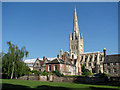 TG2308 : Norwich cathedral from the south by Evelyn Simak