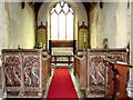 TG1314 : St Peter's church - the rood screen by Evelyn Simak