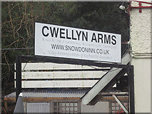 SH5652 : Cwellyn Arms sign by John Firth