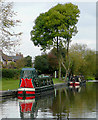 SK2928 : Private moorings at Willington, Derbyshire by Roger  Kidd