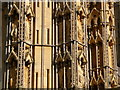 ST5545 : Wells: cathedral west front figures by Chris Downer