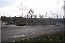 TQ6174 : Roundabout on the A226 Thames Way by David Anstiss