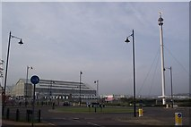 TQ7669 : Roundabout at entrance to the Historic Dockyard, Chatham by David Anstiss