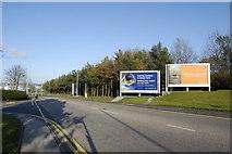 NJ8711 : Approach road to Aberdeen Airport by Bill Harrison