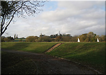 SP3365 : Willes Meadow reservoir with sailing boats by Robin Stott