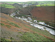 SX0991 : Boscastle from Penally Hill by Philip Halling