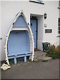 SX0991 : Seat in front of a cottage in Boscastle by Philip Halling