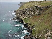SX0485 : Treligga Cliff by Philip Halling