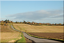 SP5162 : Looking north along the undulating lane to Flecknoe by Andy F
