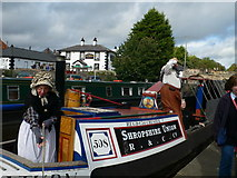 SJ2742 : Traditional canal folk at Trevor Basin by Eirian Evans