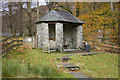 NY3205 : Stone shelter in Chapel Stile by Tom Richardson
