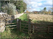 SP2225 : Lower Oddington footpath by Michael Dibb