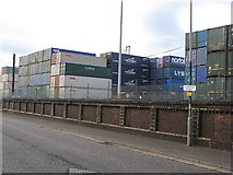 NS2776 : Containers,  Ocean Terminal by Richard Webb