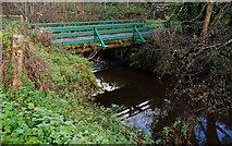 J3267 : Footbridge, Lagan canal near Edenderry by Albert Bridge