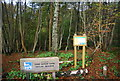 TQ7512 : Signs, Fore Wood RSPB Nature Reserve by N Chadwick
