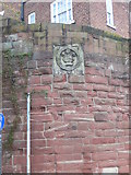 SJ4065 : Coat of arms on the city walls near Bridgegate, Chester by Eirian Evans