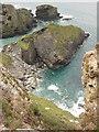 SX0382 : Cornish coast, Port Isaac Bay by Philip Halling