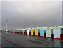 TQ2704 : Beach Huts, Western Esplanade by Simon Carey