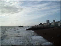 TQ3103 : View from Brighton Palace Pier by Paul Gillett