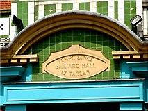 TQ2775 : Former Temperance Billiard Hall in Battersea Rise ( detail ) by tristan forward