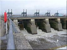 ST1972 : Cardiff Bay Barrage, Sluice Gates by Colin Smith