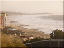 SZ1191 : Boscombe: the beach from East Overcliff by Chris Downer