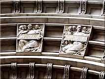 TQ2779 : Detail from Drury's Doorway to the Victoria and Albert Museum (iv) by tristan forward