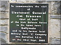 G6615 : Commemorative plaque, Ballymote Castle by Willie Duffin