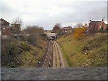 SJ9499 : Stalybridge to Victoria line by Gerald England