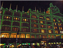 TQ2779 : Harrods of Knightsbridge goes green by Christine Matthews