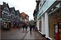 SJ6552 : Shopping street off the Oat Market, Nantwich by hayley green