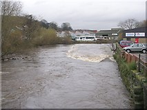 SE1537 : River Aire & Weir - Otley Road by Betty Longbottom