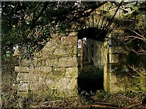 NS3578 : Kilmahew Castle - short passage beneath staircase by Lairich Rig