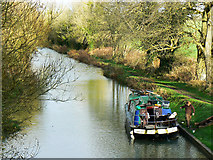 SU2763 : Boat on the Kennet and Avon canal, near Crofton by Brian Robert Marshall