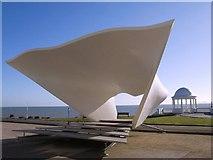 TQ7407 : Acoustically profiled Bandstand at the De La Warr Pavilion by tristan forward