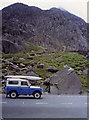 SH6660 : Northern edge of Tryfan from the road by Peter Bond
