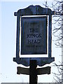 TM2972 : The Kings Head Public House Sign, Laxfield by Adrian Cable