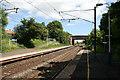 NZ2287 : Pegswood railway station by Adam Brookes