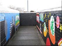 SP1193 : Mural on Sheffield Road / Green Lanes footbridge by Michael Westley