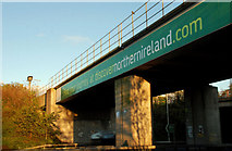 J3475 : Railway bridge, Belfast by Albert Bridge