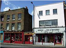 TQ3386 : Shops in Stoke Newington by ceridwen