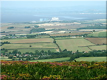 ST2146 : Hinkley Point Power Station -  from the Quantock Hills by Anthony O'Neil