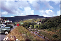 SC4384 : View across Laxey River to the Laxey Wheel by Donald Champion