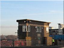 TQ3777 : Deptford Creek Bridge: control room by Stephen Craven