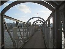 TQ2104 : Footbridge to Shoreham Beach by Paul Gillett