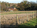 TG1804 : Stubble field beside the path to Cantley Lane by Evelyn Simak