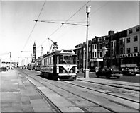 SD3035 : Tram near Central Pier, Blackpool by Dr Neil Clifton